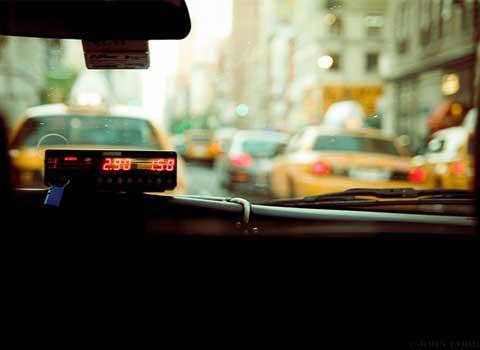 タクシーでラブホテルまで